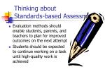 thinking about standards based assessment