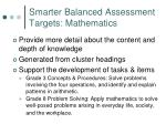 smarter balanced assessment targets mathematics