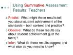using summative assessment results teachers