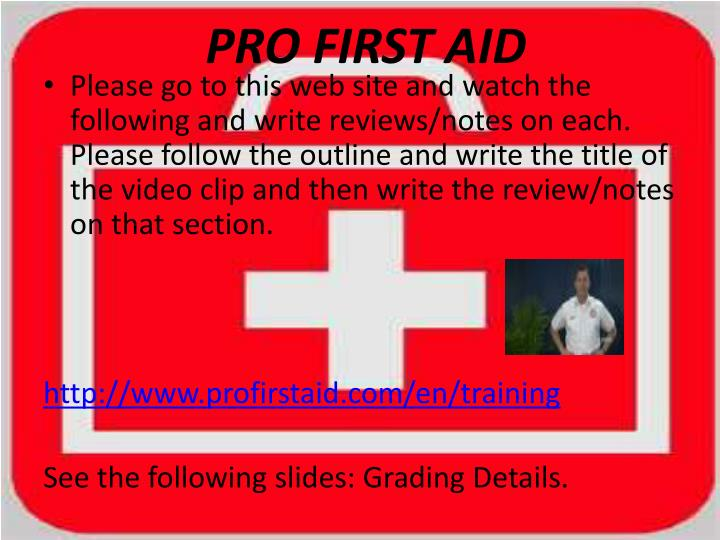 pro first aid n.