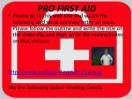 pro first aid