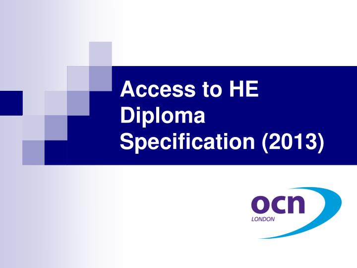 access to he diploma specification 2013 n.