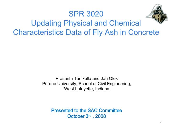 spr 3020 updating physical and chemical characteristics data of fly ash in concrete n.