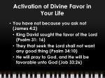 activation of divine favor in your life3