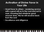 activation of divine favor in your life6