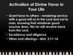activation of divine favor in your life7