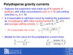 polydisperse gravity currents