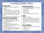 avoiding godless men