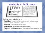 learning from the scriptures1