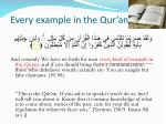 every example in the qur an