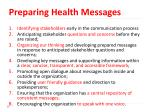preparing health messages