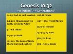 genesis 10 32 toledoth generations