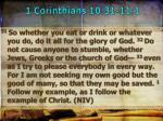 1 corinthians 10 31 11 1
