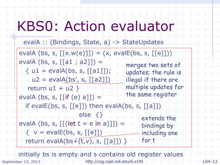 KBS0: Action evaluator