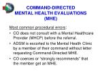 command directed mental health evaluations mhe1