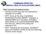 command directed mental health evaluations mhe2