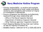 navy medicine hotline program