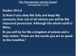 the thessalonians and the gospel i thessalonians 1 4 101