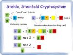 stehle steinfeld cryptosystem