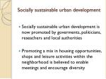 socially sustainable urban development