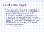 christ as the target