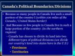 canada s political boundaries divisions