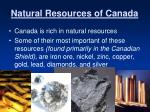 natural resources of canada