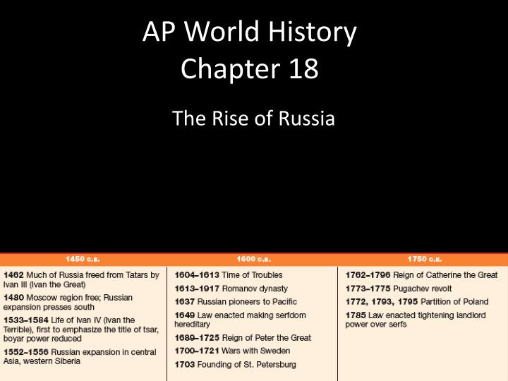 ap world history chapter 18 n.