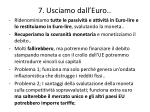 7 usciamo dall euro