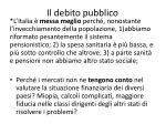 il debito pubblico7