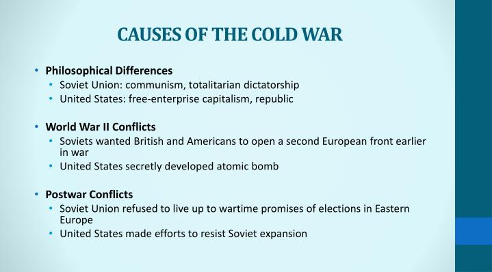 causes of the cold war n.