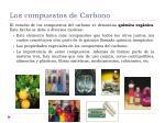 los compuestos de carbono