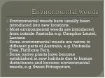 environmental w eeds