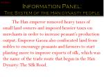 information panel the system of the han dynasty people