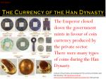 the currency of the han dynasty