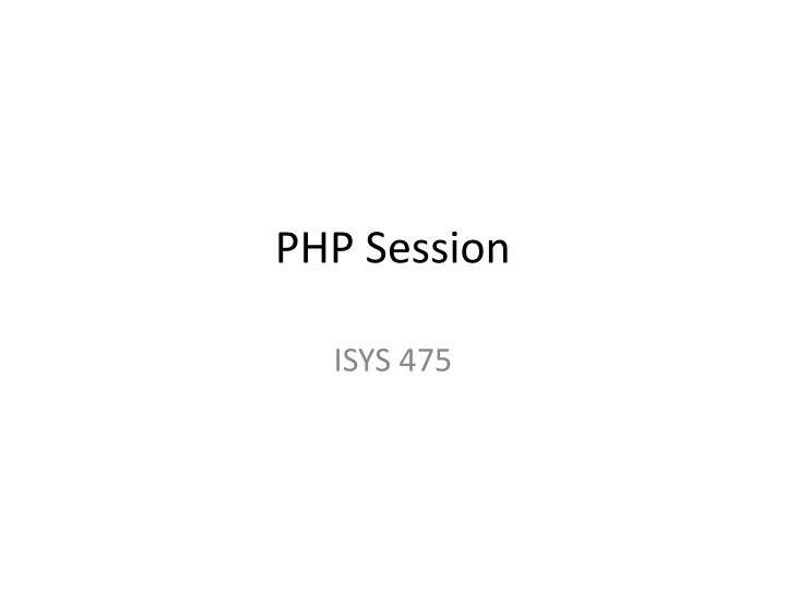 php session n.