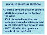 in christ spiritual freedom