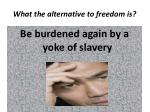 what the alternative to freedom is