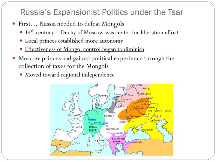 Russia's Expansionist Politics under the Tsar