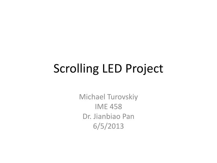 scrolling led project n.