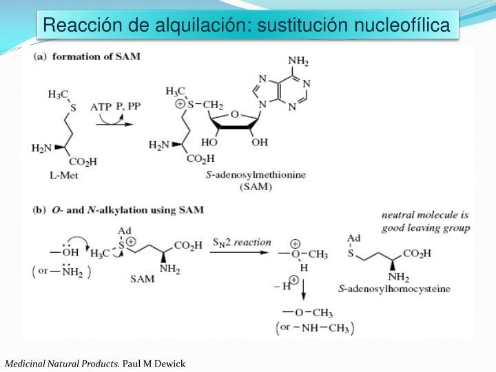 Reacción de alquilación: sustitución