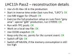 lhc11h pass2 reconstruction details