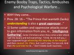 enemy booby traps tactics ambushes and psychological warfare1