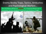 enemy booby traps tactics ambushes and psychological warfare13