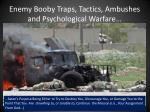 enemy booby traps tactics ambushes and psychological warfare14