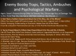 enemy booby traps tactics ambushes and psychological warfare15