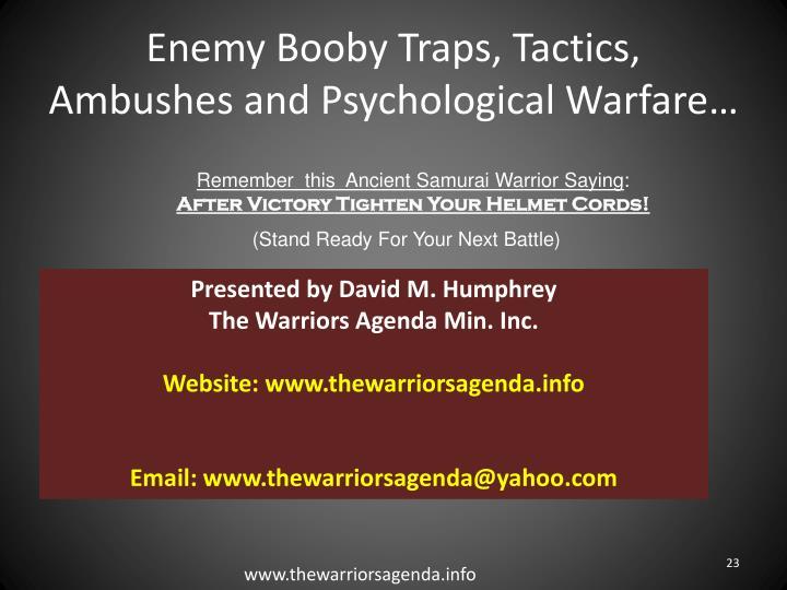 Enemy Booby Traps