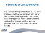 continuity of care continued2