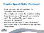 enrollee appeal rights continued