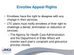 enrollee appeal rights